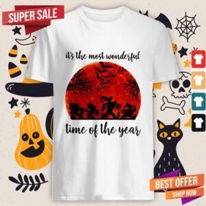 Halloween Mickey Mouse And Friends Its The Most Wonderful Time Of The Year Sunset Shirt