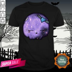 Halloween Purple Moon Skull Kawaii Cute Sugar Skull ShirtHalloween Purple Moon Skull Kawaii Cute Sugar Skull Shirt