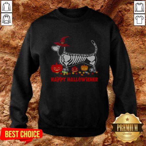Hot Dachshund Happy Hallowiener Sweatshirt
