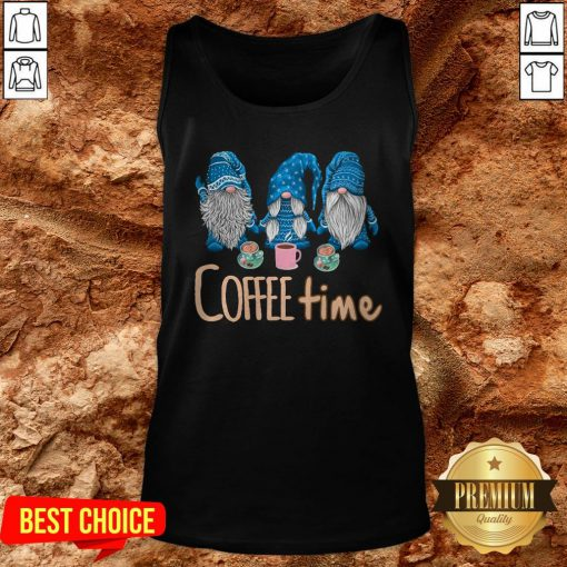 Hot Gnomes Coffee Time Christmas Tank Top