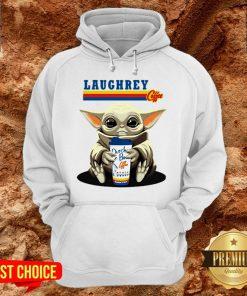 Laughrey Coffee Star Wars Baby Yoda Hug Dutch Bros Coffee Hoodie