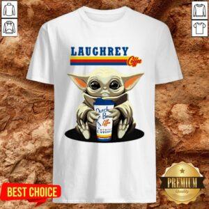 Laughrey Coffee Star Wars Baby Yoda Hug Dutch Bros Coffee Shirt