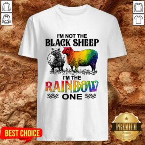 LGBT I'm Not The Black Sheep I'm The Rainbow One Shirt