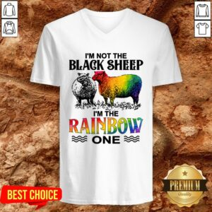 LGBT I'm Not The Black Sheep I'm The Rainbow One V-neck