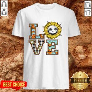 Love Sunflower Jack Skellington Flower Shirt