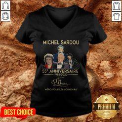 Michel Sardou 55e Anniversaire 1965 2020 Merci Pour Les Souvenirs V-neck
