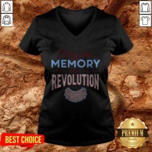 RBG May Her Memory Be A Revolution V-neck
