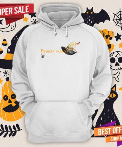 Spooky Season Halloween Witch Hat And Spider Hoodie