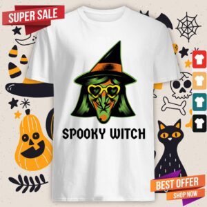 Spooky Witch Happy Halloween Day Shirt