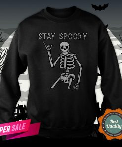Stay Spooky Skeleton Halloween Day Sweatshirt