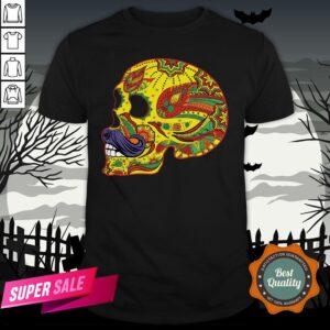 Sugar Skull Mustache - Cinco De Mayo Day Dead T-Shirt