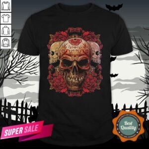 Sugar Skull Roses Day Of The Dead Dia De Muertos Shirt