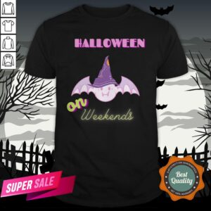 The Day Of Dead Halloween The Bat Witch On Weekends Sugar Skull Shirt