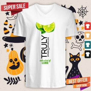 Truly Hard Seltzer Lime Halloween Costume V-neck
