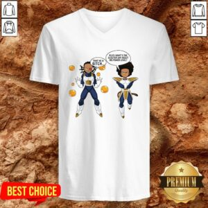 Vegeta And Boondocks That He A Bitch Riley What's The Scouter Say About His Power Level V-neck