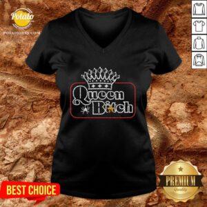 Beautiful Crown Queen Bitch Diamond V-neck - Design By Potatotees.com