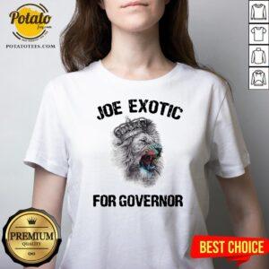 Beautiful Joe Exotic For Governor V-neck - Design By Potatotees.com