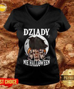 Beautiful Koszulka Dziady Nie Halloween V-neck- Design By Potatotees.com