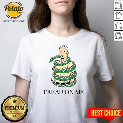 Beautiful Snake Tread On Me V-neck - Design By Potatotees.com