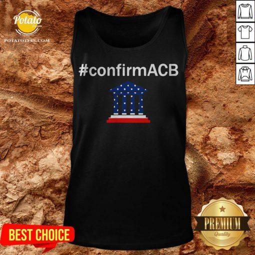 Confirm ACB Amy Coney Barrett Supreme Court America Flag USA Tank Top - Design By Potatotees.com