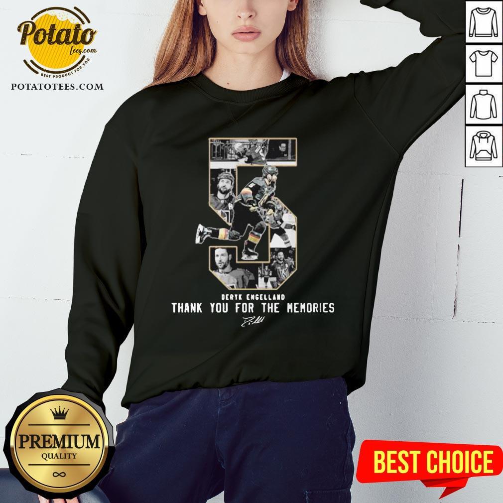Deryk Engelland Thank You For The Memories Signature Sweatshirt - Design By Potatotees.com