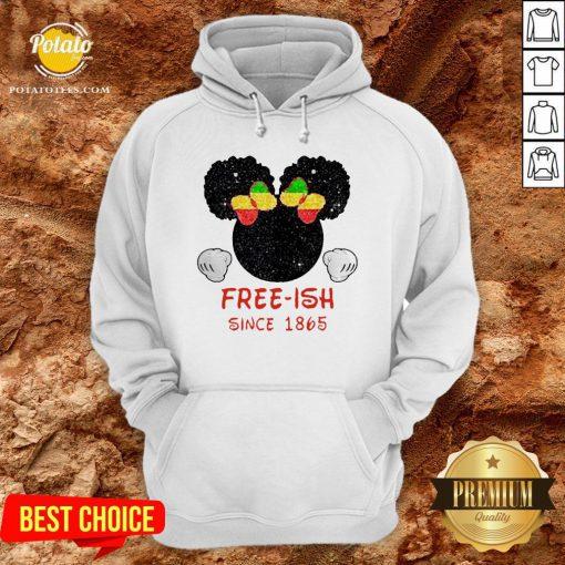 Disney Minnie Mouse Black Free-ish Since 1865 Hoodie - Design By Potatotees.com