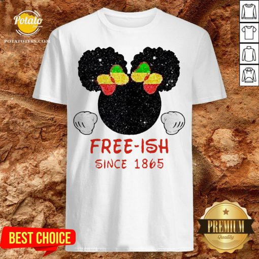 Disney Minnie Mouse Black Free-ish Since 1865 Shirt - Design By Potatotees.com