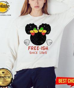Disney Minnie Mouse Black Free-ish Since 1865 Sweatshirt - Design By Potatotees.com