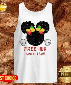 Disney Minnie Mouse Black Free-ish Since 1865 Tank Top - Design By Potatotees.com
