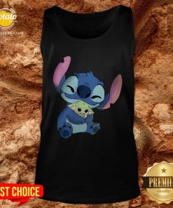 Disney Stitch Hugs Baby Yoda Tank Top