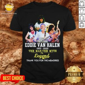 Eddie Van Halen 1955 2020 The Man The Myth The Legend Thank You For The Memories Shirt - Design By Potatotees.com