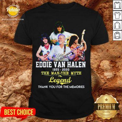 Eddie Van Halen 1955 2020 The Man The Myth The Legend Thank You For The Memories Shirt - Design By Potatotees.com