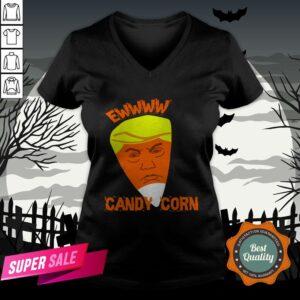 Ewwww Candy Corn Anti Trump Halloween V-neck