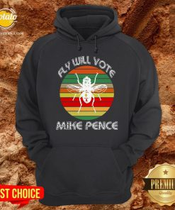 Fly On Mike Pence's Head For Biden Harris 2020 Hoodie - Design By Potatotees.com