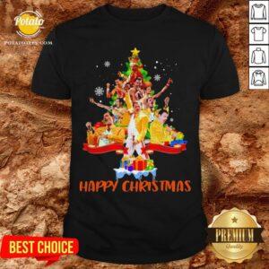 Freddie Mercury Happy Christmas Tree Shirt - Design By Potatotees.com