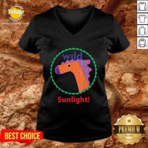 Funny Horse Art Sunlight V-neck- Design By Potatotees.com