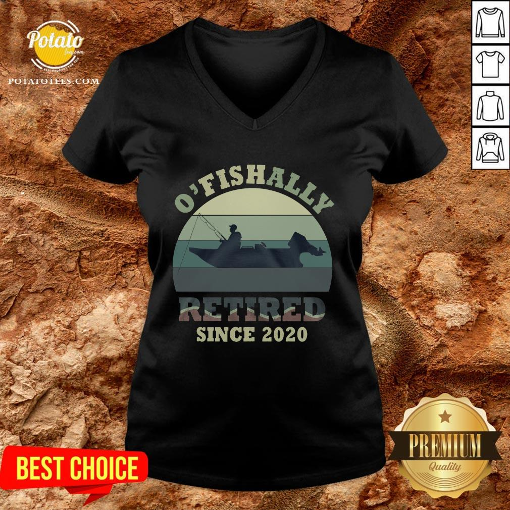 Funny O' Fishally Retired Since 2020 Vintage Tank Top - Design By Potatotees.com