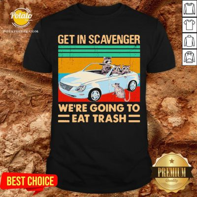 Get In Scavenger We're Going To Eat Trash Vintage Shirt - Design By Potatotees.com
