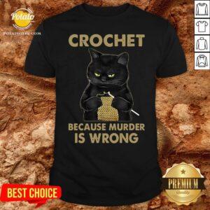 Good Black Cat Crochet Because Murder Is Wrong Shirt - Design By Potatotees.com