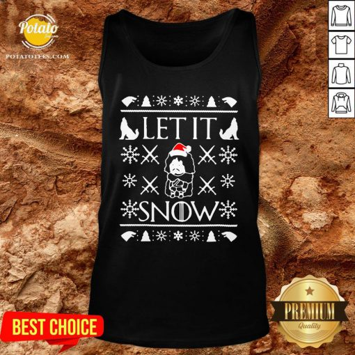 Good Game Of Thrones Jon Snow Let It Snow Ugly Christmas Tank Top - Design By Potatotees.com