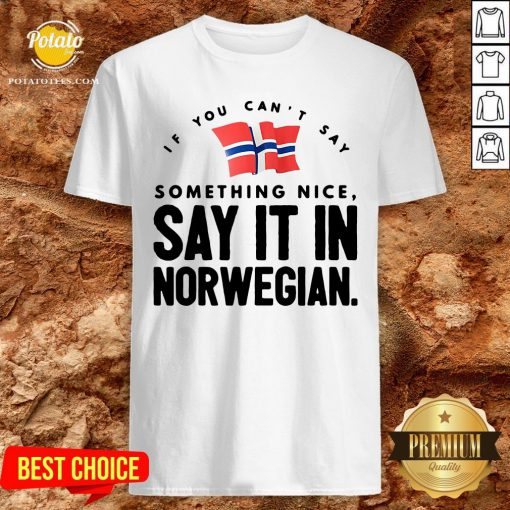 Good If You Can't Say Something Nice Say It In Norwegian Shirt - Design By Potatotees.com