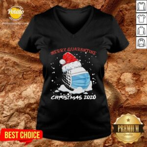 Good Merry Quarantine Christmas Viruscorona V-neck - Design By Potatotees.com