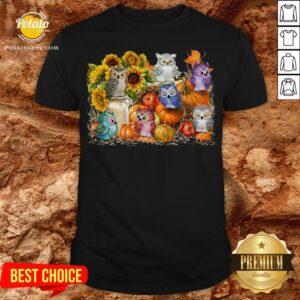Good Owls Pumpkin Sunflower Halloween Shirt - Design By Potatotees.com