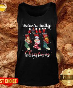 Good Santa Shoes Have A Holly Jolly Christmas Tank Top - Design By Potatotees.com