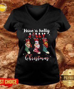 Good Santa Shoes Have A Holly Jolly Christmas V-neck - Design By Potatotees.com