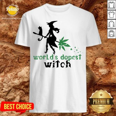 Good Weed Worlds Dopest Witch Shirt - Design By Potatotees.com