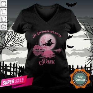 Halloween In October We Wear Pink V-neck