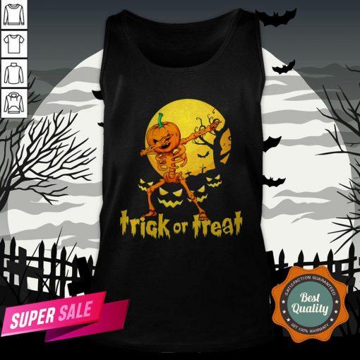 Halloween Trick Or Treat Jack O Lantern Pumpkin Tank Top