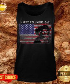 Happy Columbus Day Italian Explorer America Discovery Tank Top - Design By Potatotees.com