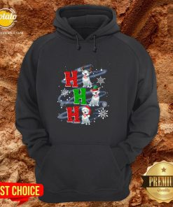 Happy Ho Ho Ho Chritsmas Pitbull Classic Hoodie - Design By Potatotees.com